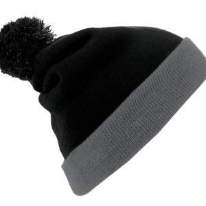 Шапка Breeze, черная с серым