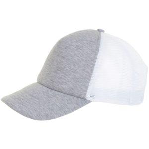 Бейсболка Dodge, серый меланж с белым