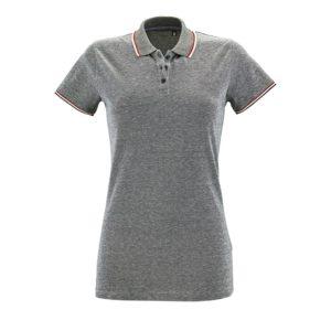 Рубашка поло женская Paname Women, черный меланж