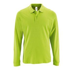 Рубашка поло мужская с длинным рукавом Perfect LSL Men, зеленое яблоко