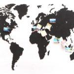 Деревянная карта мира World Map True Puzzle Large, черная