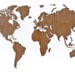 Деревянная карта мира World Map Wall Decoration Exclusive, орех