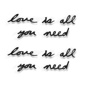 Декоративная надпись Love Is All You Need
