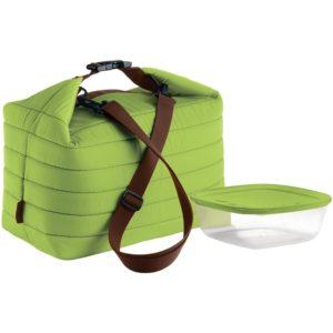 Набор Handy: термосумка и контейнер, большой, зеленый