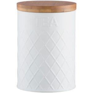 Емкость для хранения чая Embossed, белая