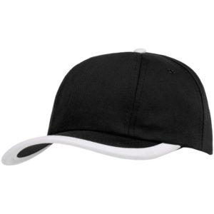 Бейсболка Bizbolka Honor, черная с белым кантом