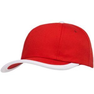 Бейсболка Bizbolka Honor, красная с белым кантом