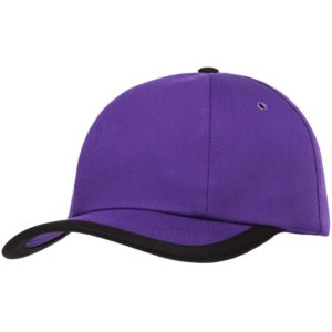 Бейсболка Bizbolka Honor, фиолетовая с черным кантом