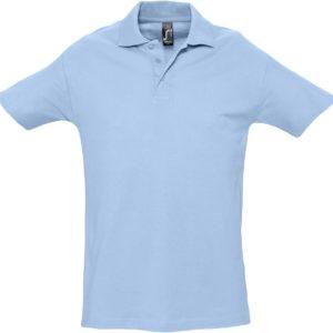 Рубашка поло мужская Spring 210, голубая
