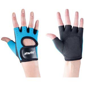 Перчатки для фитнеса Blister Off, черные с бирюзовым