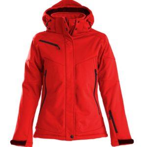 Куртка софтшелл женская Skeleton Lady, красная