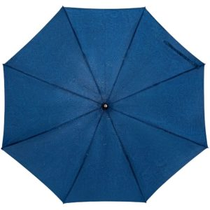 Зонт-трость Magic с проявляющимся цветочным рисунком, темно-синий
