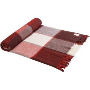 Плед Caledonia, красный с коричневым