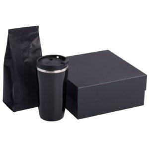 Набор Grain: термостакан и кофе, черный