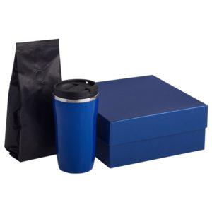 Набор Grain: термостакан и кофе, синий