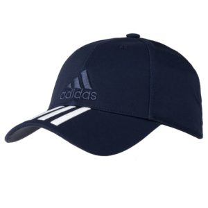 Бейсболка Six-panel Classic 3 stripes, темно-синяя