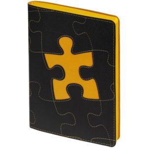 Ежедневник «Управление персоналом», недатированный, черно-желтый