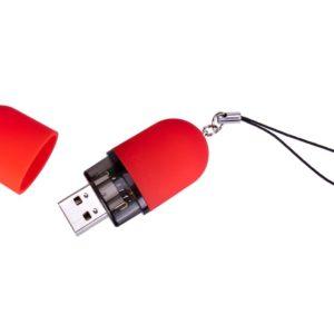 Флешка «Капсула», красная, 8 Гб