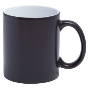 Кружка «Хамелеон», матовая, черная