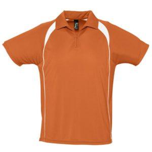 Спортивная рубашка поло Palladium 140 оранжевая с белым