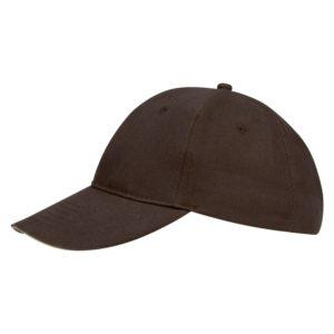 Бейсболка Buffalo, коричневая с бежевым