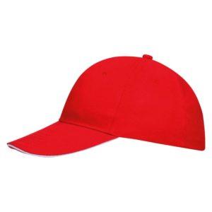 Бейсболка Buffalo, красная с белым