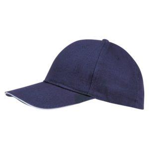 Бейсболка Buffalo, темно-синяя с белым