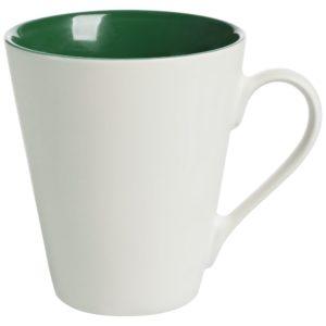 Кружка New Bell матовая, белая с зеленым