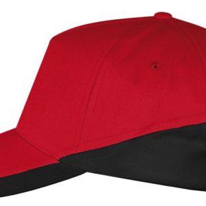 Бейсболка Booster, красная с черным