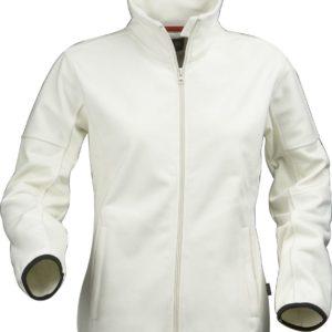 Куртка флисовая женская Sarasota, белая с оттенком слоновой кости