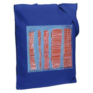 Холщовая сумка «Небоскребы», синяя