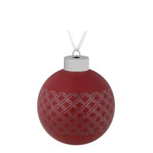 Елочный шар Queen, 8 см, красный