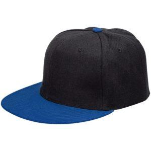 Бейсболка Ben Hope с прямым козырьком, черная с синим