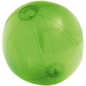 Надувной пляжный мяч Sun and Fun, полупрозрачный зеленый