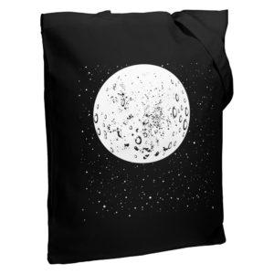 Холщовая сумка «Что вечно под Луной» со светящимся принтом