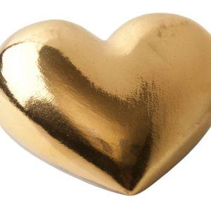 Фарфоровое сердце Golden Heart