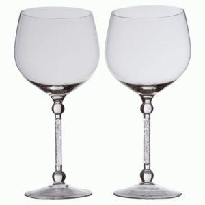 Два бокала для вина «Фантазия», с кристаллами